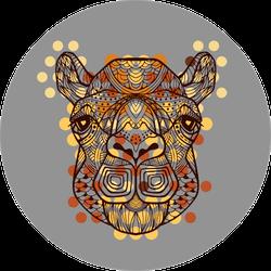 Camel. African Tribal Pattern Grey Sticker