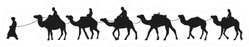 Camel Caravan Silhouette Illustration Sticker