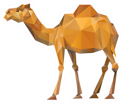 Camel Geometric Illustration Sticker