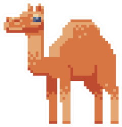 Camel. Pixel Art Character Sticker