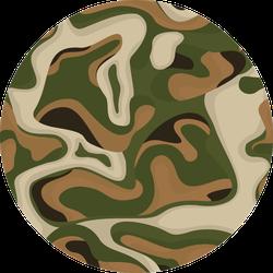 Camouflage Seamless Pattern Hunting Theme Sticker