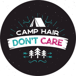 Camp Hair Don't Care Sticker