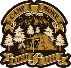 Camp More Worry Less Sticker