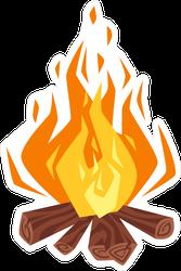 Campfire Camping Sticker