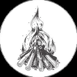 Campfire Illustration Sticker