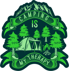 Camping Is My Therapy Sticker