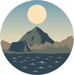 Camping Landscape Sticker