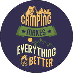 Camping Makes Everything Better Sticker