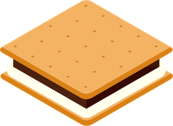 Camping S'more Sticker