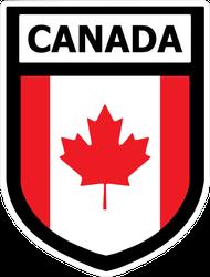 Canada Flag Shield Decal Sticker