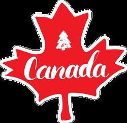 Canada Hand Drawn Maple Leaf Sticker