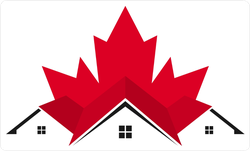 Canada Home Roof Sticker