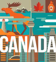 Canada Love Illustration Sticker