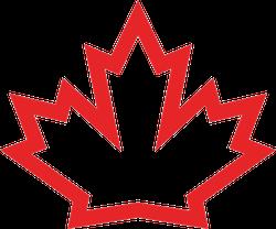 Canada Maple Icon Sticker
