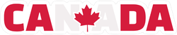 Canada Text With Flag Sticker