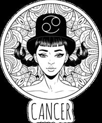 Cancer Artwork Sticker