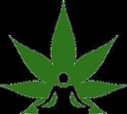 Cannabis And Meditation Sticker