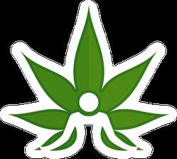 Cannabis And Meditation Symbol Sticker