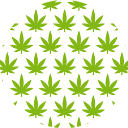 Cannabis Plant Seamless Pattern Sticker