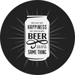 Can't Buy Happiness But You Can Buy Beer Sticker