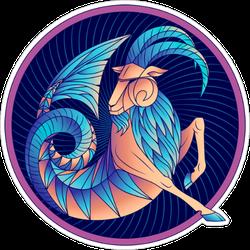 Capricorn Zodiac Sign Sticker