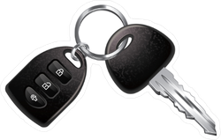 Car Key and Remote Sticker