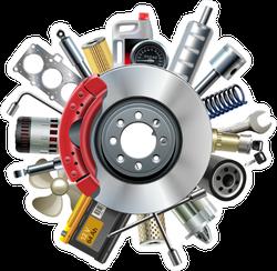 Car Parts Sticker