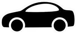Car Vector Icon Sticker