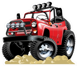 Cartoon 4x4 Vehicle Sticker
