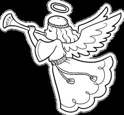Cartoon Angel Line Art Sticker