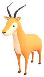 Cartoon Antelope Sticker