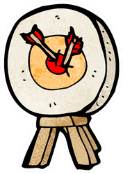 Cartoon Archery Target Cute Sticker