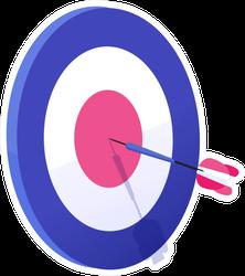 Cartoon Arrow Exactly On Target Illustration Sticker