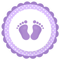 Cartoon Baby Footprints Sticker