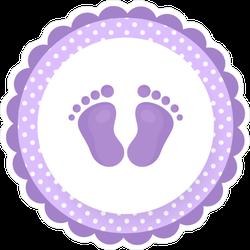 Cartoon Baby Footprints Sticker