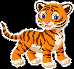 Cartoon Baby Tiger Sticker