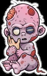 Cartoon Baby Zombie Sticker