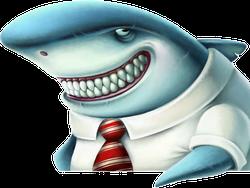 Cartoon Business Shark Sticker