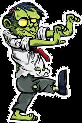 Cartoon Business Zombie Sticker