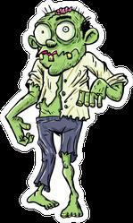 Cartoon Businessman Zombie Sticker