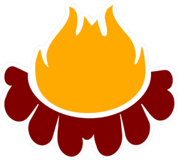 Cartoon Campfire Sticker