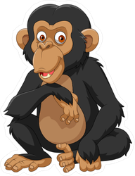 Cartoon Chimpanzee Sticker