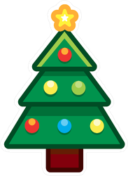 Cartoon Christmas Tree Sticker