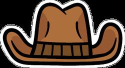 Cartoon Cowboy Hat Illustration Sticker Part 3 of 3 in the hats series. cartoon cowboy hat illustration sticker