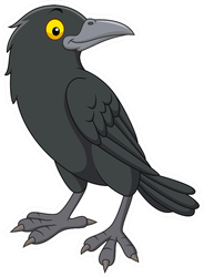 Cartoon Crow Silly Sticker
