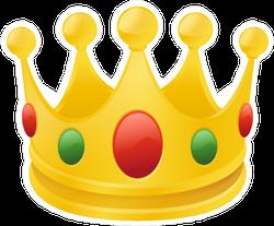 Cartoon Crown Sticker
