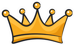 Cartoon Crown Symbol Sticker