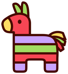 Cartoon Cute Donkey Piñata Sticker