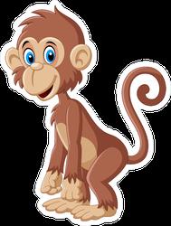 Cartoon Cute Monkey Posing