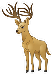 Cartoon Deer Sticker